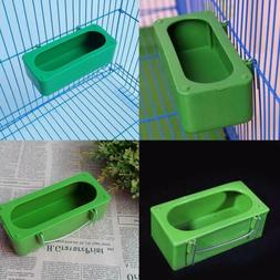 1 Green Bird Parrot Food Water Bowl Pigeons Pet Cage Cup Fee