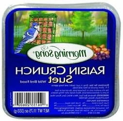 Morning Song 11436 Raisin Crunch Suet Wild Bird Food, 11.75