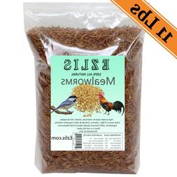 Dried Mealworms 11Lbs - Chickens Food Birds Treats Fish Rept