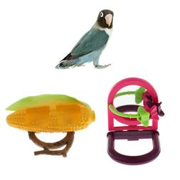 2 Bowls Feeder Food Water Bowl Cups for Birds Parrot Pigeon