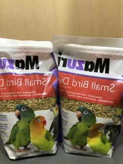 2 X Bags of Mazuri Small Bird Diet Food, 2.5 lbs