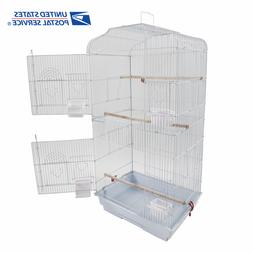 """37"""" Parrot Canary Parakeet Finch Bird Cage with Wood Perches"""