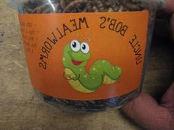 4 Oz. Dried Mealworms - Protein Tub Package Reptile,Birds,Sn