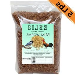 Dried Mealworms 5Lbs - Chickens Food Birds Treats Fish Repti