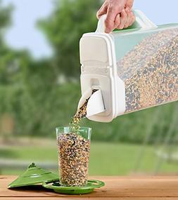 Buddeez 8-Quart Dispenser for Pet Food and Bird Seed