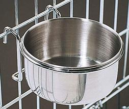 Bonka 800116 Stainless Steel 30 oz Cage Coop Hook Cup Bird D