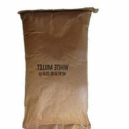 Shafer Seed 84075 White Proso Millet Wild Bird Food, 50-Poun