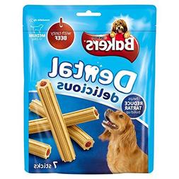 Bakers Dental Delicious Medium Dog Treats Beef 7 per pack