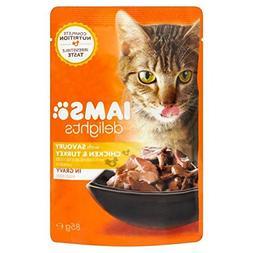 Iams Delights Chicken & Turkey in Gravy Pouch 85g