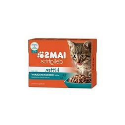 Iams Delights Kitten Food in Gravy 12 x 85g