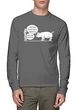 Long Sleeve Men's Bacon, I Am Your Father, Noooo Shirt