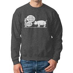 Men's Bacon, I Am Your Father, Noooo Crewneck Sweatshirt
