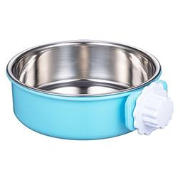 NIWish Crate Dog Bowl, Removable Stainless Steel Coop Cup Ha