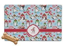 RNK Shops Christmas Penguins Pet Bowl Mat