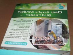 Pet Trends Acrylic Clear Pet Bird Seed Food ~ Window Feeder