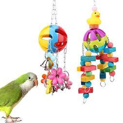 PyLios Acrylic Parrot Toys Bird Cage Stand Scratcher for Par