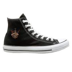 Aiguan Alphabet Parrot Canvas Shoes High Top Casual Black Sn
