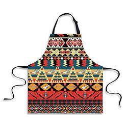 iPrint BBQ Apron,Native American,Classic Traditional Aztec P