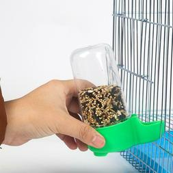 Bird Feeder Food Water Feeding Automatic Drinker Parrot Disp