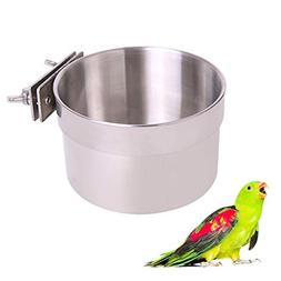 QBLEEV Bird Food Bowl Bird Cage Accessories Parrot Feeder Bo