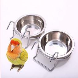 QBLEEV Birdcage Bird Feeder Birds Food Dish Parrot Feeders W
