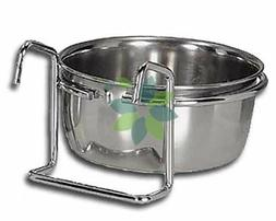 Cage Coop Cup Bird Cat Dog Food Water Bowl 10 oz Wire Hanger