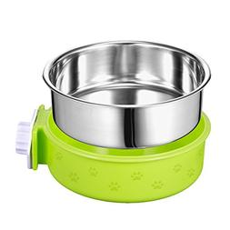 Amazon 5 stars Crate Dog Bowl, Removable Stainless Steel Pet