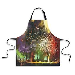 iPrint Custom Apron,Fantasy House Decor,Fairy Forest with My