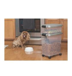 Dog and Cat 3-Piece Air Tight Pet Food Treats Container Comb