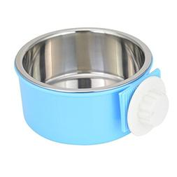 ZHONG-LING Size M Dog Bowl Feeder Pet Puppy Food Water Bowl,