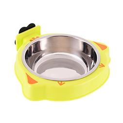LVSEHUIYI Dog Cat Bowl Feeder Cage Hanging Food Water Bowls