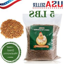 Dried Mealworms For Chickens 5LB+0.5LB Chicken Treat Duck Fe