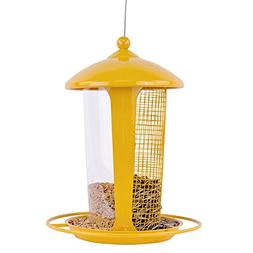 Dual Outdoor Hanging Wild Bird Seed Feeder, Weather-Proof Tr