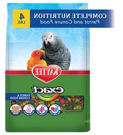 Kaytee Exact Rainbow Bird Food for Parrot and Conures 4 lb