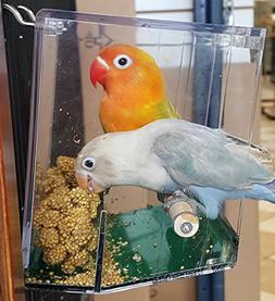 Birds LOVE Bird Feeder Seed Tray for Lovebirds, Cockatiels,