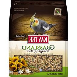 Kaytee Foraging Grassland Cockatiel Diet, 4-Pound