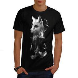 Wellcoda Fox Bear Bird Wild Mens T-shirt, Food Graphic Desig