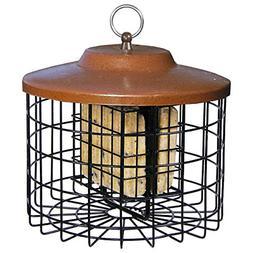 Handing Squirrel Proof Suet Holder Metal Cage Cafe Bird Feed
