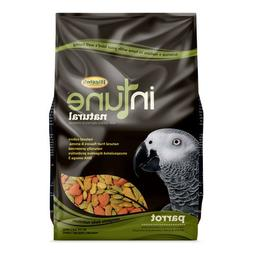 Higgins INTUNE NATURAL Parrot Food 3 lb. Bag. with Added Vit