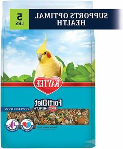 Kaytee Forti Diet Pro Health Bird Food For Cockatiel, 5-Poun