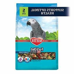 Kaytee Fortl Diet Pro Health Bird Food For Parrots, 5LB NEW-