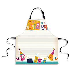 iPrint Kitchen Apron,Birthday Decorations for Kids,Cartoon C