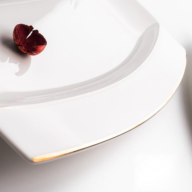 12inch Creative China <font><b>Gold</b></font> Fish Plate Western Dishes Tableware Garden Pastry Big