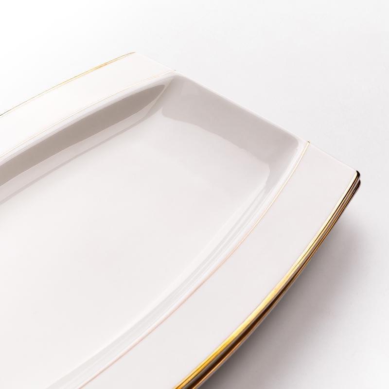 12inch Creative Ceramic Bone China Fish Dishes Pastry Dessert Saucers
