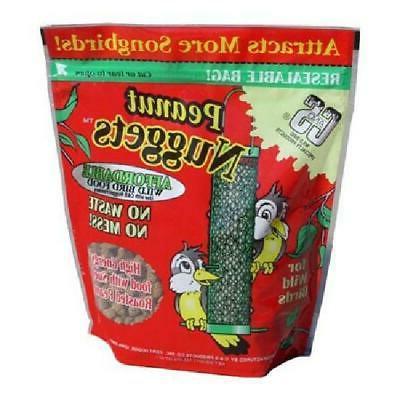 C&S Peanut Suet Nuggets Ready-to-Feed Wild Bird Food Songbi