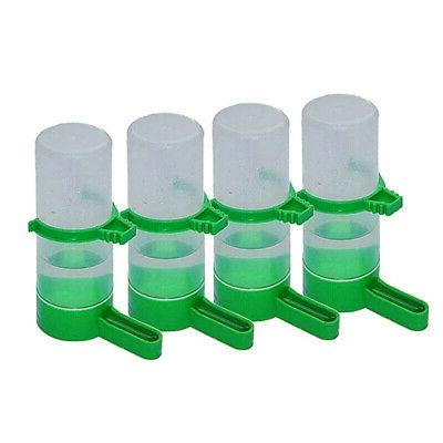 4 pc Cage Aviary Bird Parrot Finches Drinker Food Waterer Clip