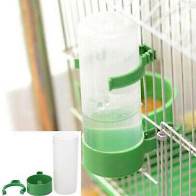 4 Pet Cage Aviary Bird Finches Food Waterer Clip