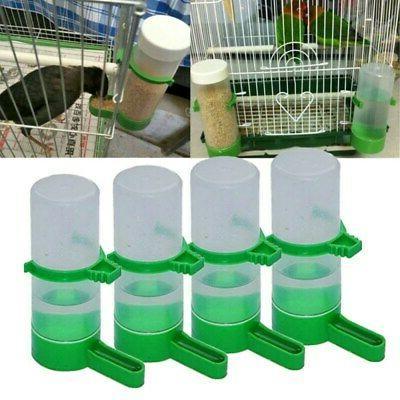 4Pcs Pet Bird Drinker Food Feeder Waterer Clips Dispenser fo