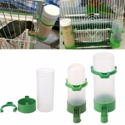 4PCS Food Feeder Waterer for Aviary Cage Budgie Lovebirds
