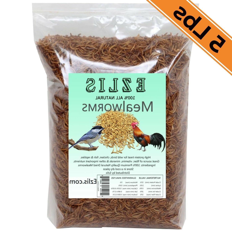 5lbs dried mealworms bulk gmo free wild